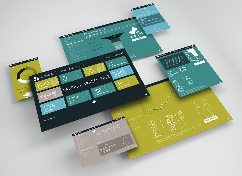 Graphic Plugin, studio de graphisme à Liège : Projet : Rapport annuel web pour IPI
