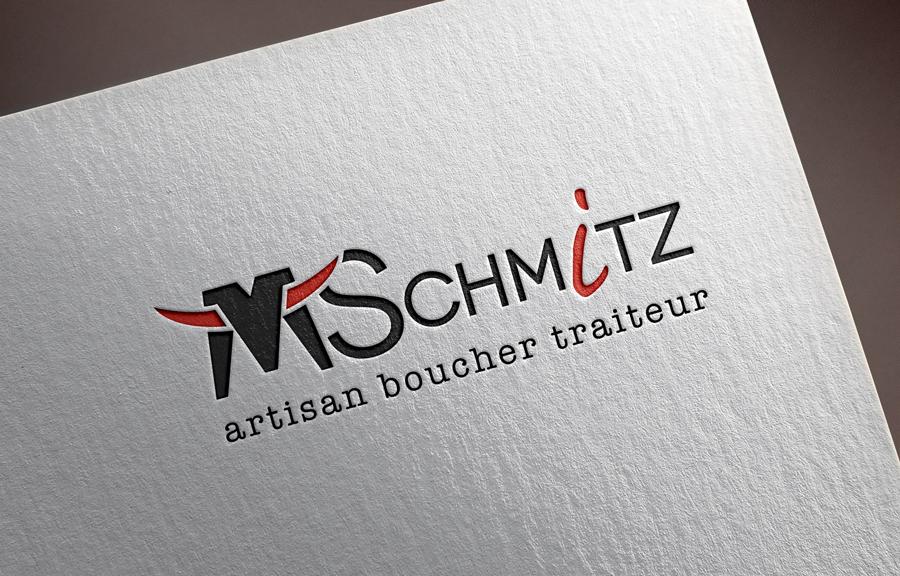 Graphic Plugin, studio de graphisme à Liège : Projet : Logo pour Boucherie Schmitz