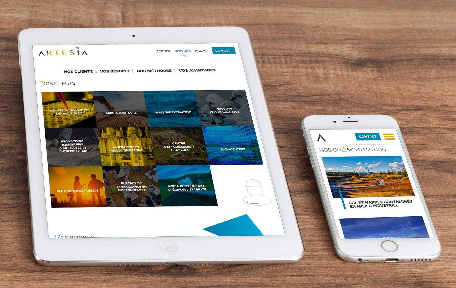 Graphic Plugin, studio de graphisme à Liège : Projet : Design et développement d'un site web pour Artesia