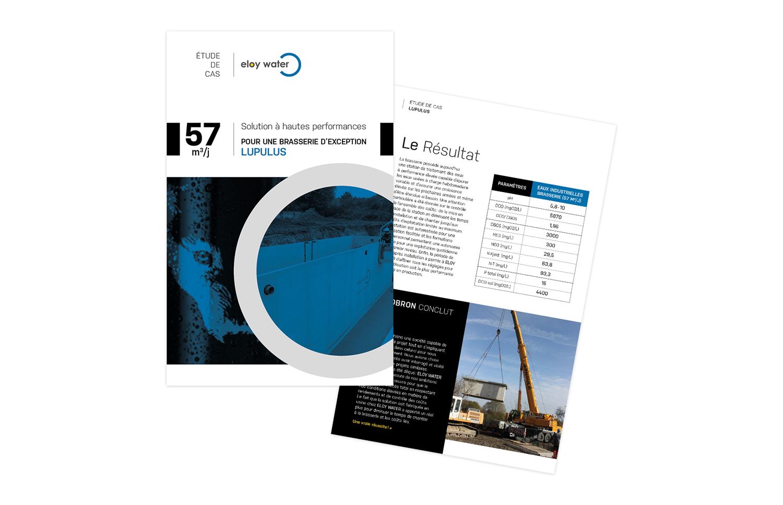 Graphic Plugin, studio de graphisme à Liège : Projet : Brochure - étude de cas pour Eloy Water