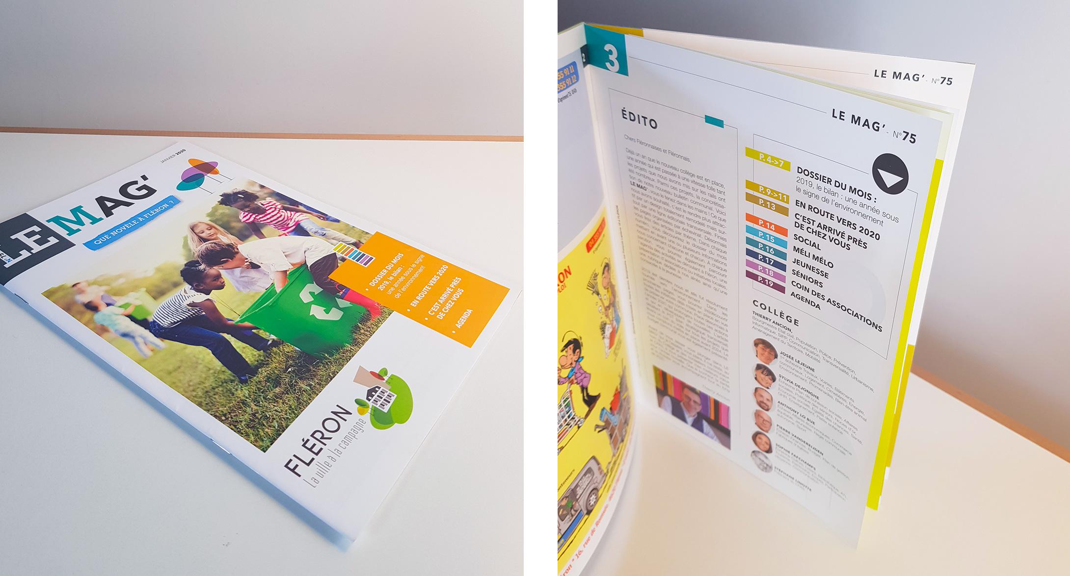 Graphic Plugin, studio de graphisme à Liège : Projet : Magazine pour Commune de Fléron