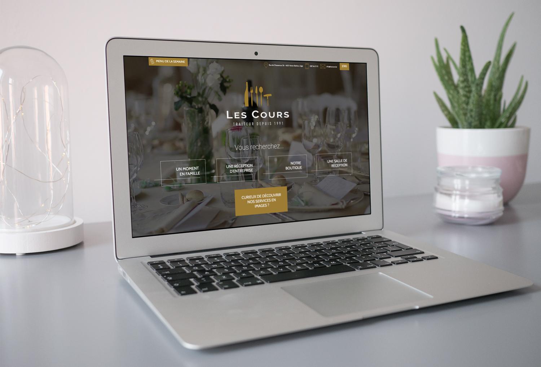 Graphic Plugin, studio de graphisme à Liège : Projet : Site web pour Traiteur Les Cours