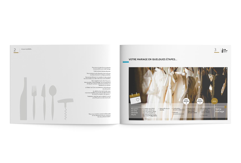 Graphic Plugin, studio de graphisme à Liège : Projet : Brochure Mariages pour Les Cours