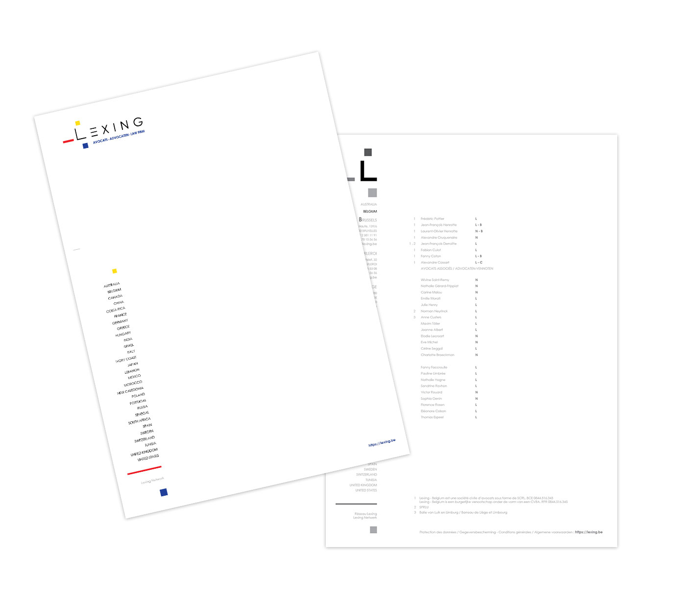 Graphic Plugin, studio de graphisme à Liège : Projet : Logo pour Lexing