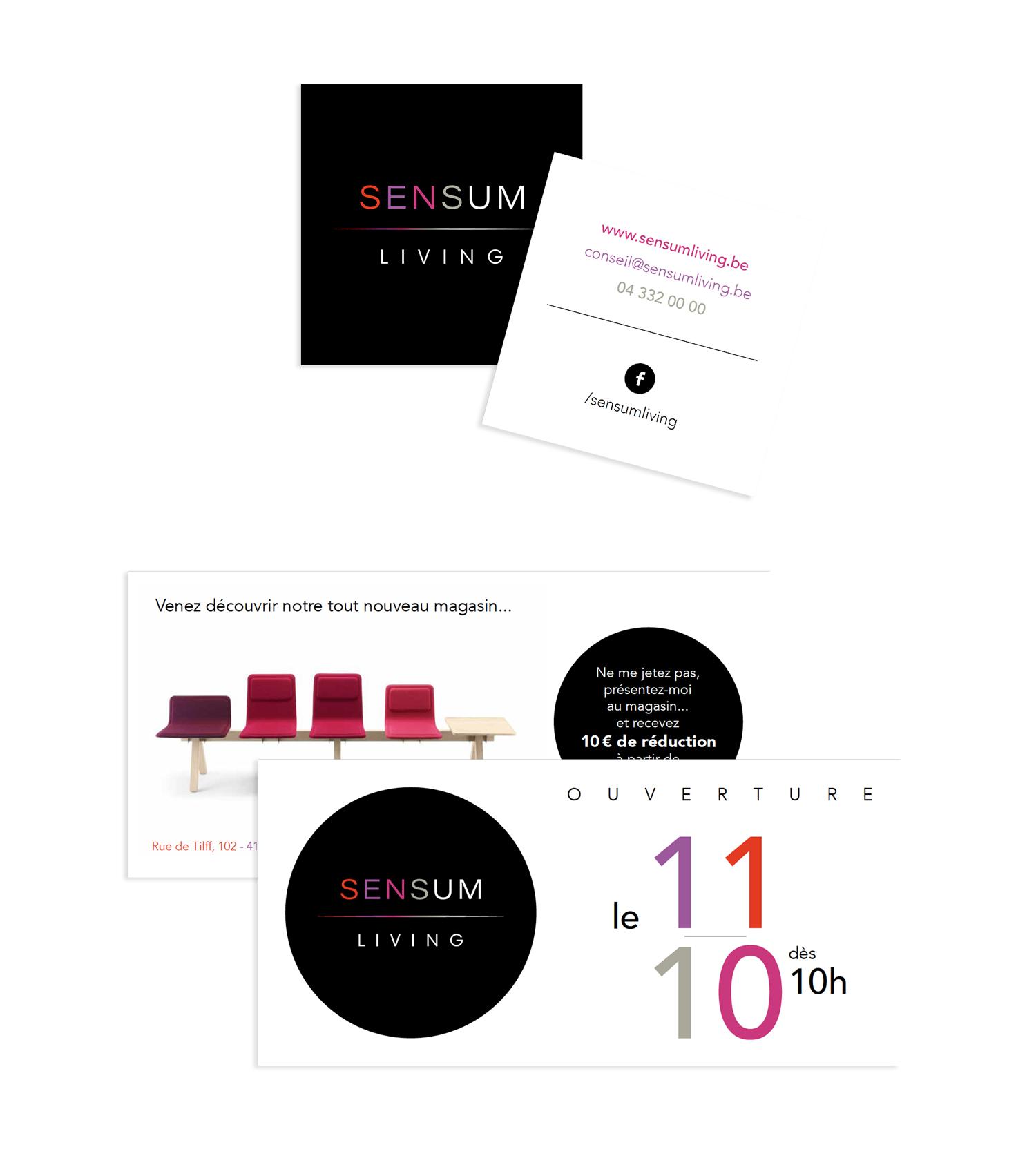 Graphic Plugin, studio de graphisme à Liège : Projet : Logo pour Sensum Living