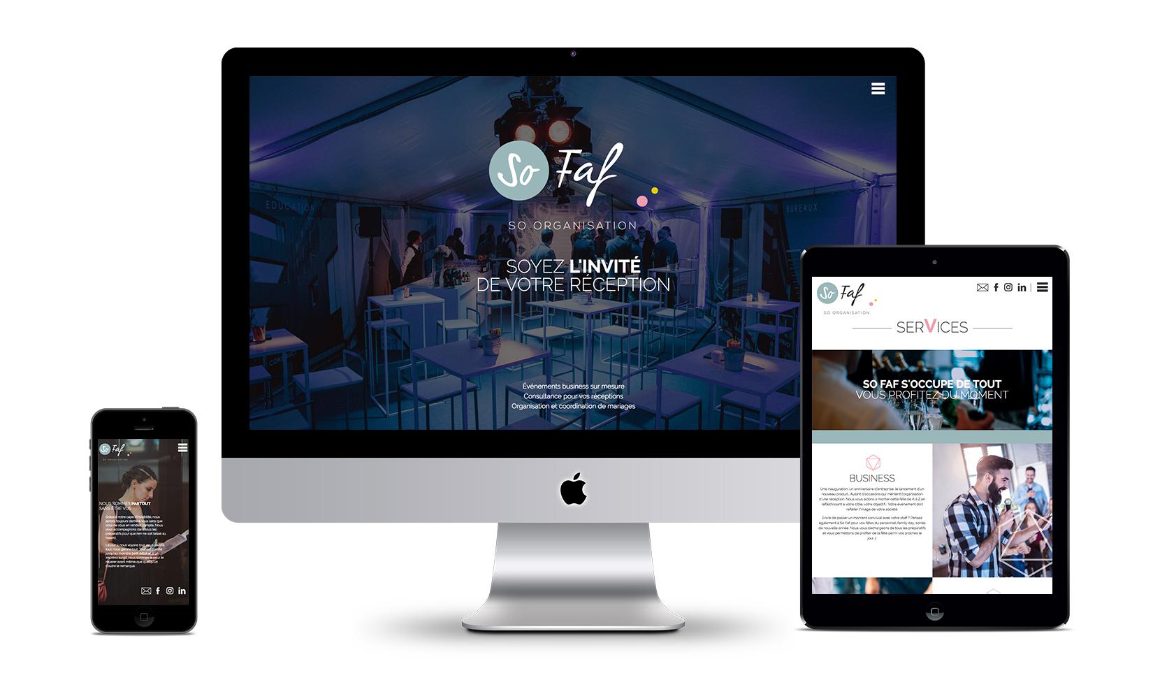 Graphic Plugin, studio de graphisme à Liège : Projet : Design et développement d'un site web pour So Faf