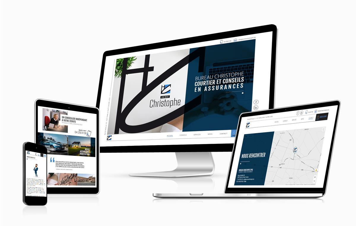 Graphic Plugin, studio de graphisme à Liège : Projet : Site web pour Bureau Christophe