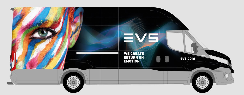 Graphic Plugin, studio de graphisme à Liège : Projet : Habillage d'un camion pour EVS