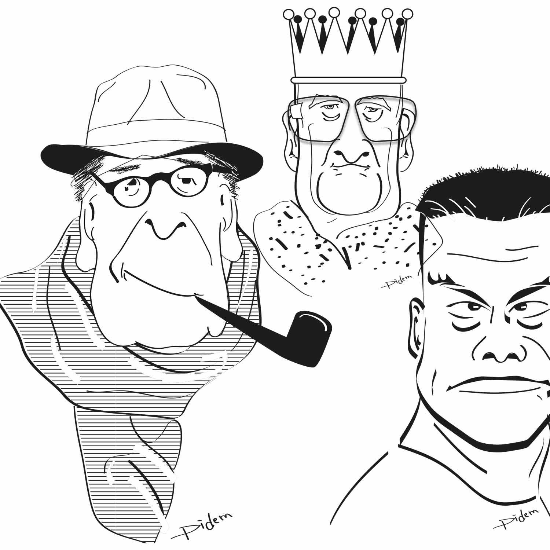 Graphic Plugin, studio de graphisme à Liège : Projet : Caricatures pour Divers