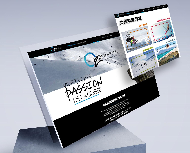 Graphic Plugin, studio de graphisme à Liège : Projet : Site web pour O2 Évasion