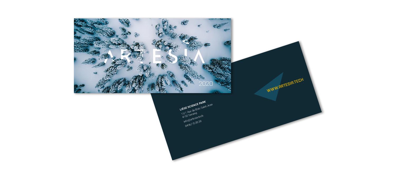 Graphic Plugin, studio de graphisme à Liège : Projet : Carte de voeux pour Artesia